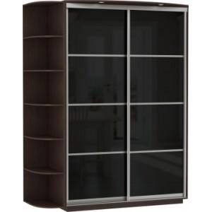 2-х дверный, корпус Венге, двери стекло цветное