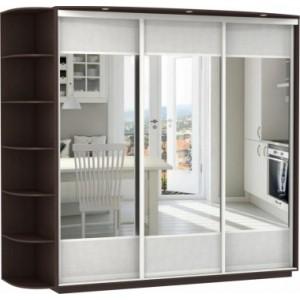 3-х дверный, корпус Венге, двери зеркала вставки экокожи