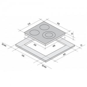 Встраиваемая электрическая панель Fornelli PV 45 Delizia white