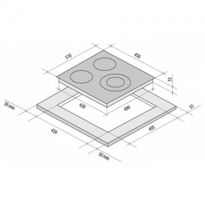 Встраиваемая электрическая панель Fornelli PV 45 Delizia